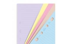 Filofax A5 linkované papíry barevné, 30 listů