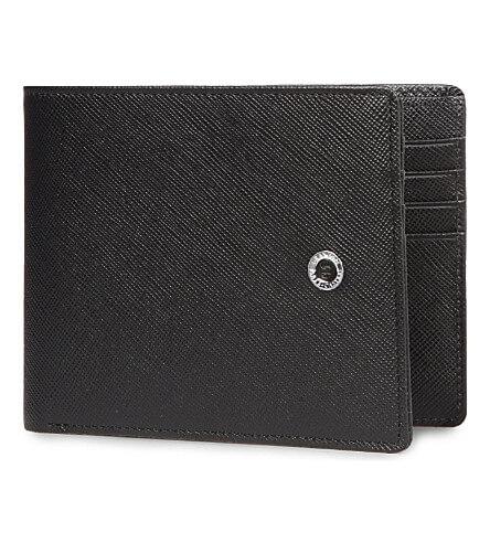 GvFC Saffiano Black, kožené pouzdro na kreditní karty