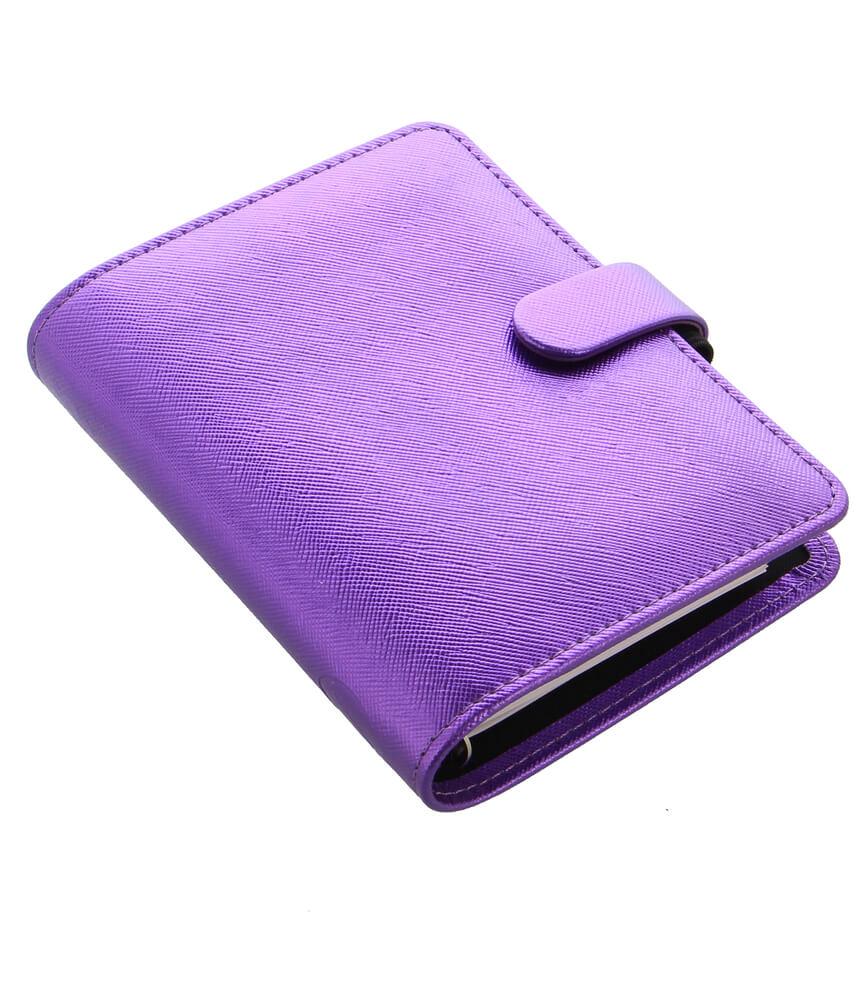 Diář Filofax Saffiano Metallic Violet kapesní