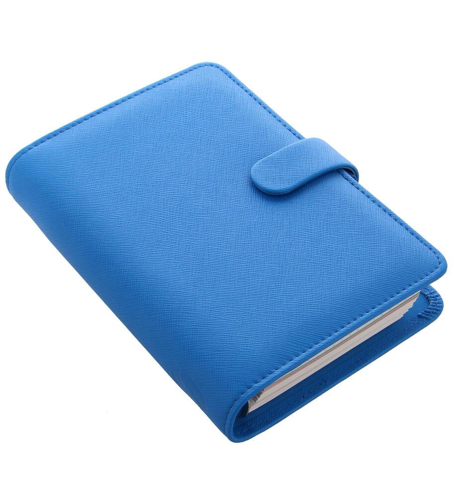 Diář Filofax Saffiano Fluoro osobní modrý