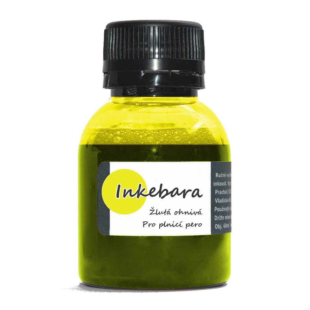 Inkebara Žlutý ohnivý lahvičkový inkoust
