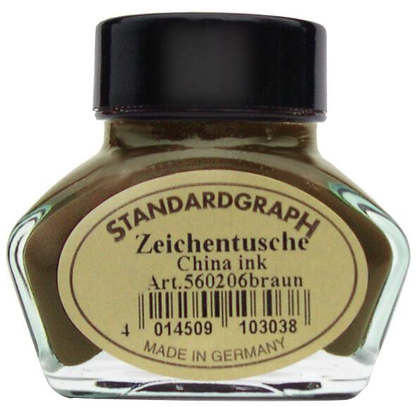 Standardgraph kaligrafická tuš hnědá