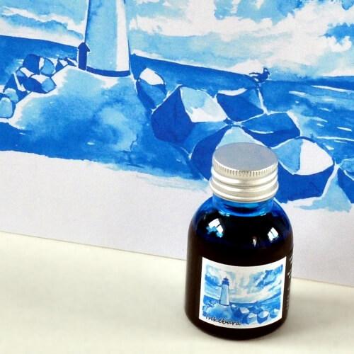 Inkebara LE Modrá mořská lahvičkový inkoust