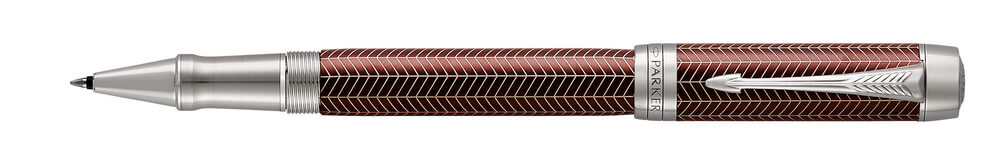Parker Duofold Prestige Burgundy Chevron, keramické pero
