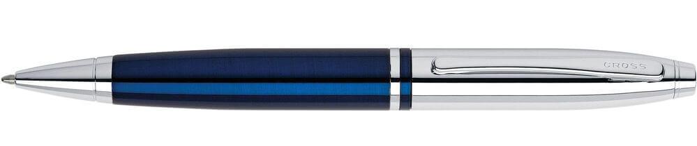 Cross Calais Chrome and Blue Lacquer, kuličkové pero