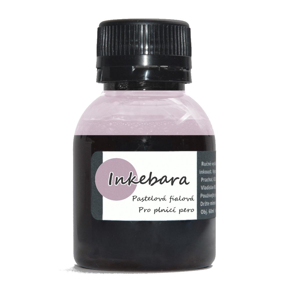 Inkebara Pastelový fialový lahvičkový inkoust