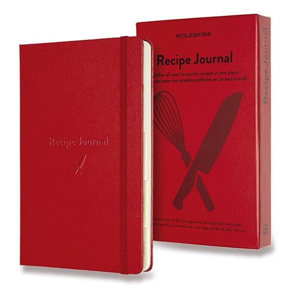 Moleskine Passion Recipe Journal A5 červený zápisník