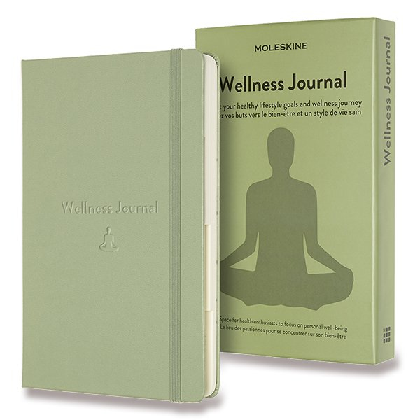 Moleskine Passion Wellness Journal A5 zelený zápisník