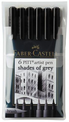 Faber Castell Pitt brush - shades of grey