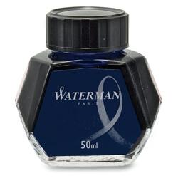 Waterman Blue-Black, modro-černý lahvičkový inkoust