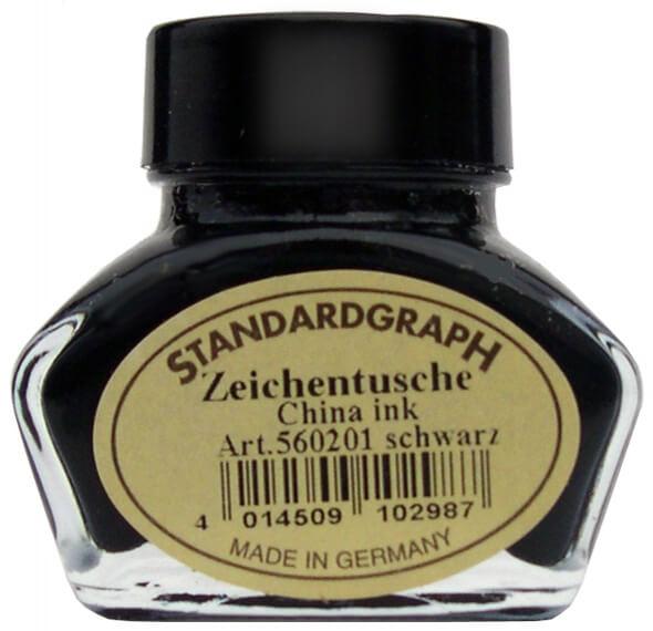 Standardgraph kaligrafická tuš černá
