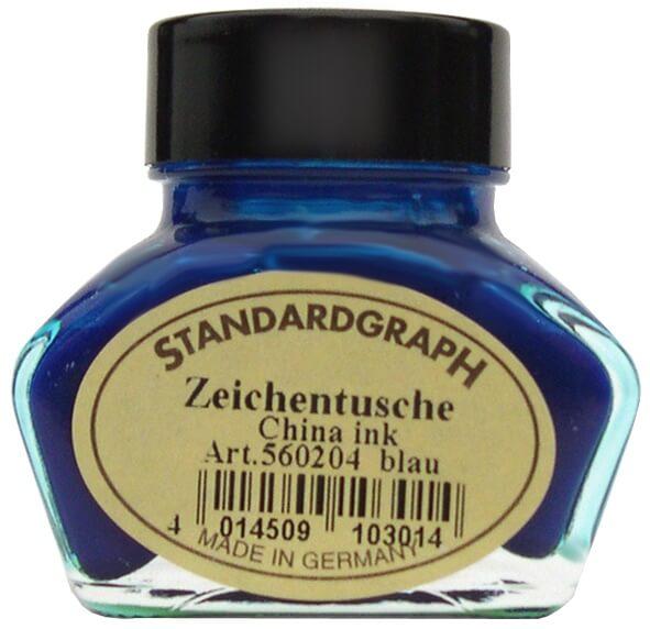 Standardgraph kaligrafická tuš modrá