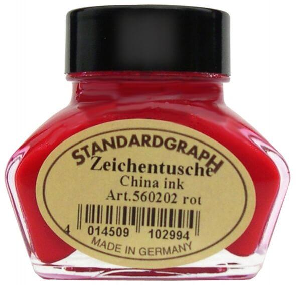 Standardgraph kaligrafická tuš červená