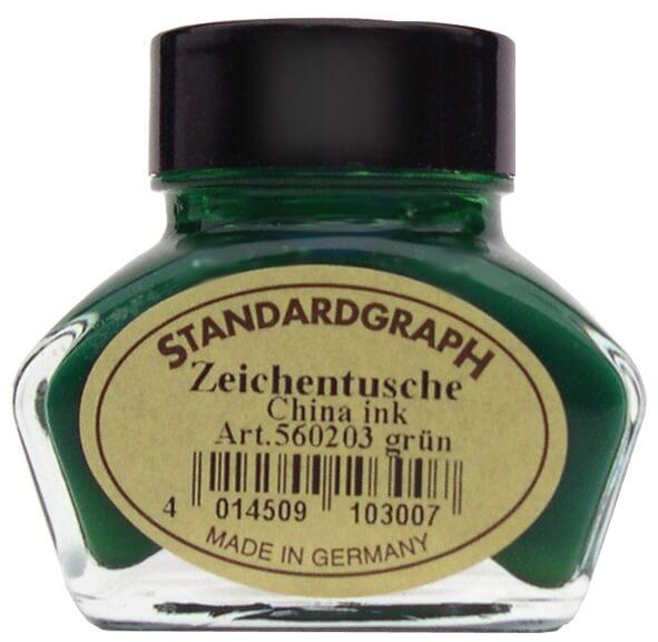 Standardgraph kaligrafická tuš zelená