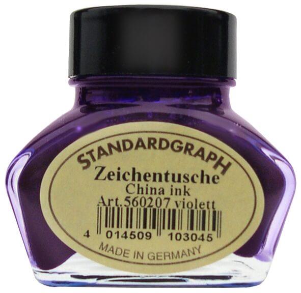 Standardgraph kaligrafická tuš fialová