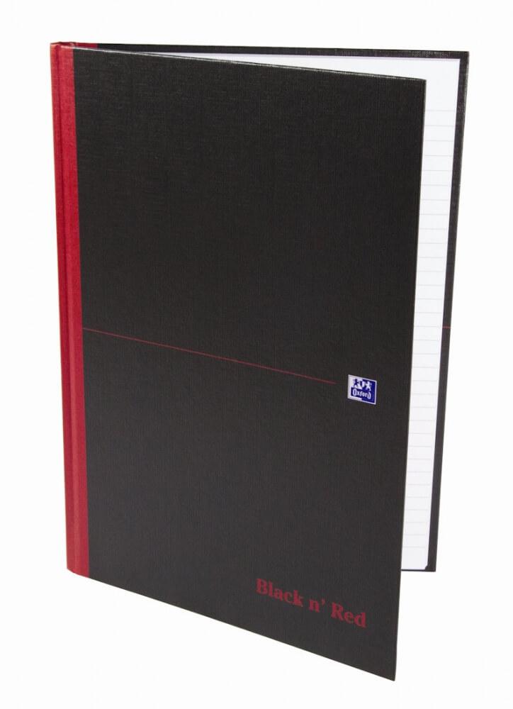 Oxford Black & Red A4 zápisník