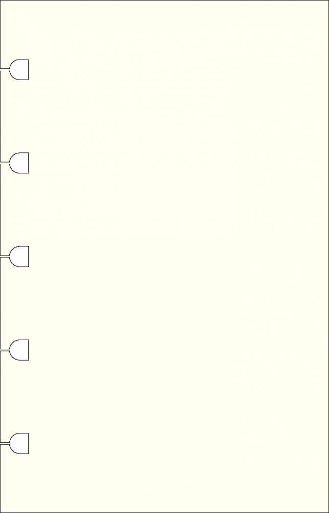 Filofax náhradní listy do zápisníků A6 - čisté