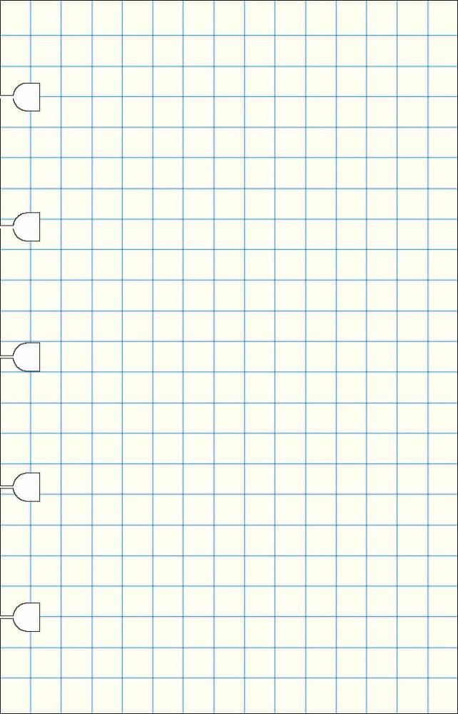 Filofax náhradní listy do zápisníků A6 - čtverečkované