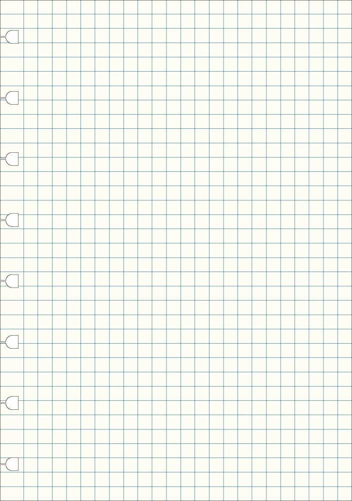 Filofax náhradní listy do zápisníků A5 - čtverečkované