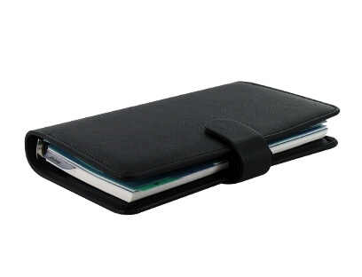 Diář Filofax Saffiano Compact černý