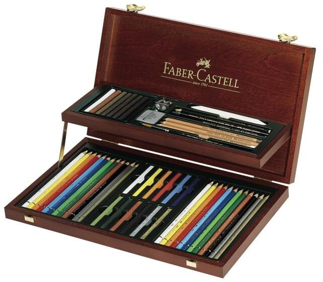 Faber Castell Art & Graphic dřevěná kazeta 54 ks