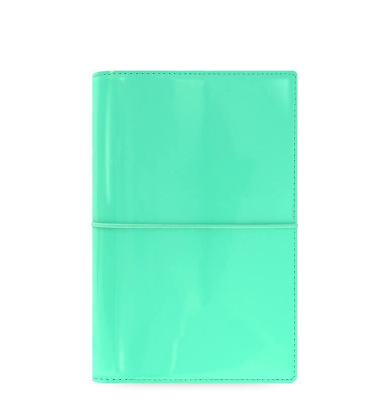 Diář Filofax Domino Patent osobní ledově zelený