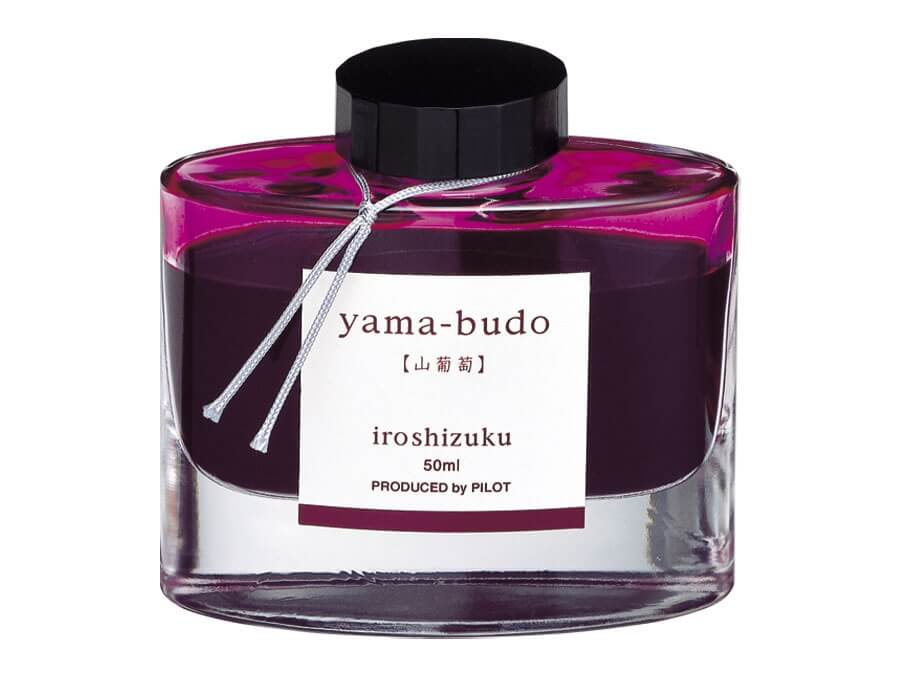 Pilot Iroshizuku Yama-Budo - Crimson Glory Vine, lahvičkový inkoust