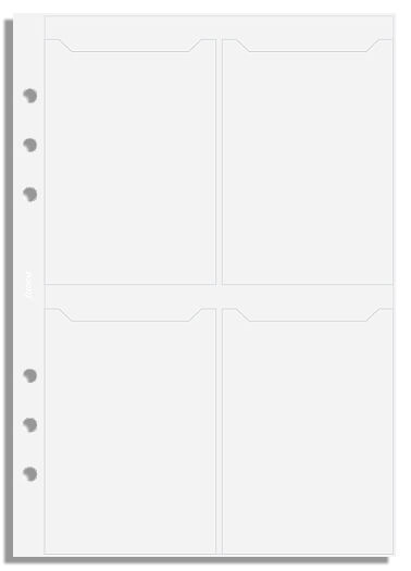 Filofax A5 pouzdro na vizitky