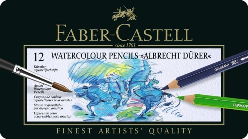 Faber Castell Albrecht Dürer, akvarelové pastelky 12 ks