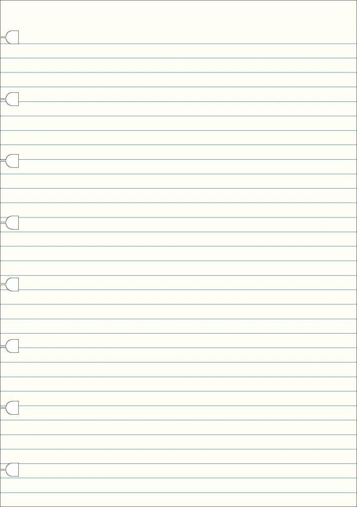 Filofax náhradní listy do zápisníků A4 - linkované