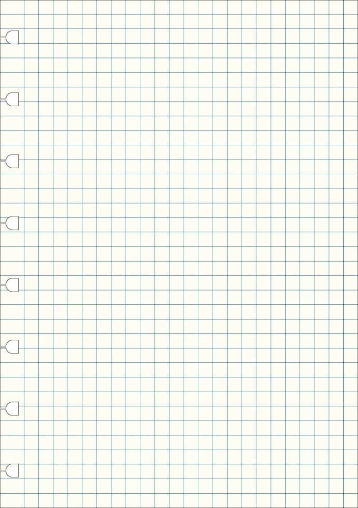 Filofax náhradní listy do zápisníků A4 - čtverečkované