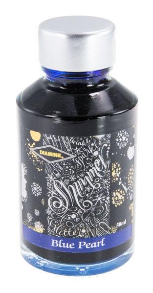 Diamine Shimmer Blue Pearl 50 ml, lahvičkový inkoust
