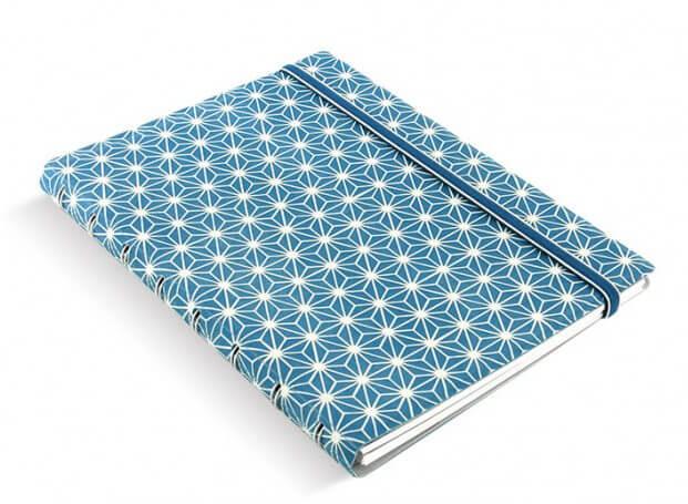 Filofax Impressions Blue and White A5 zápisník