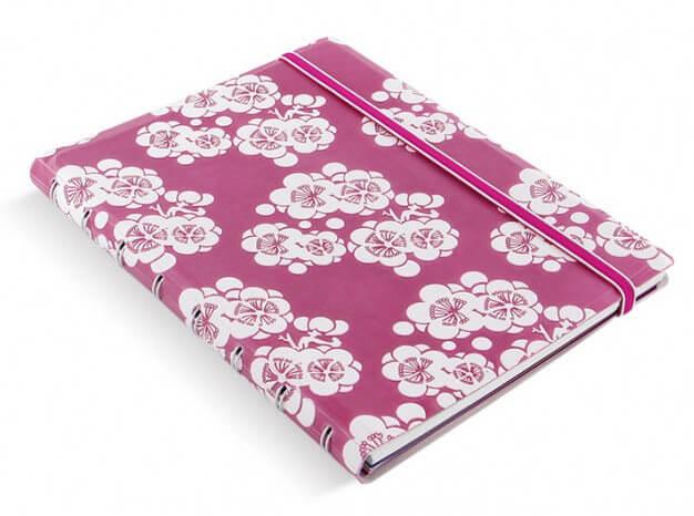 Filofax Impressions Pink and White A5 zápisník