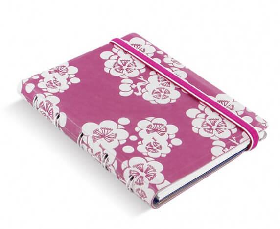 Filofax Impressions Pink and White A6 zápisník