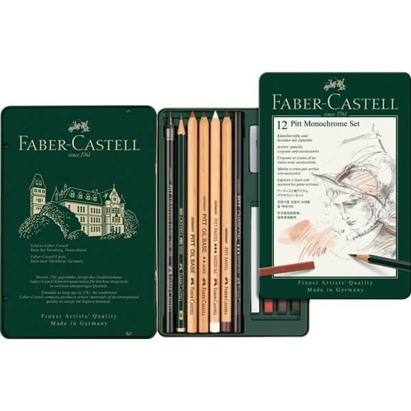 Faber Castell Pitt Monochrome sada 12 ks