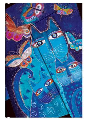 Paperblanks zápisník Blue Cats and Butterflies Midi