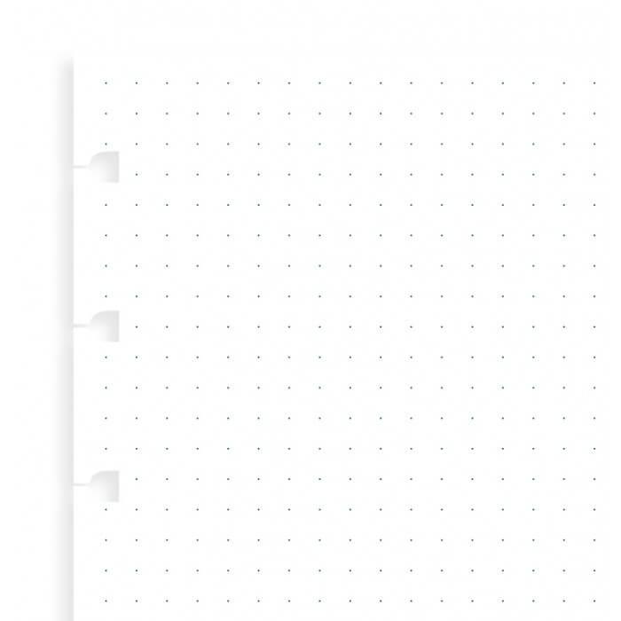 Filofax náhradní listy do zápisníků A6 - tečkované