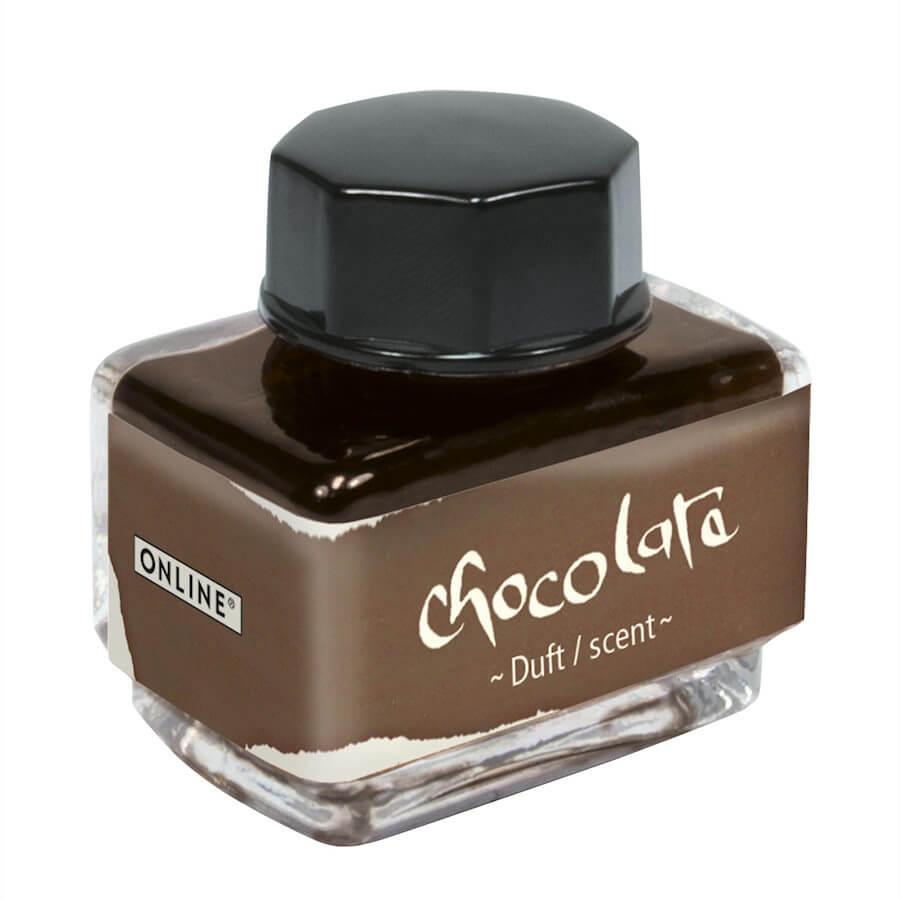 Online Chocolate, hnědý lahvičkový inkoust