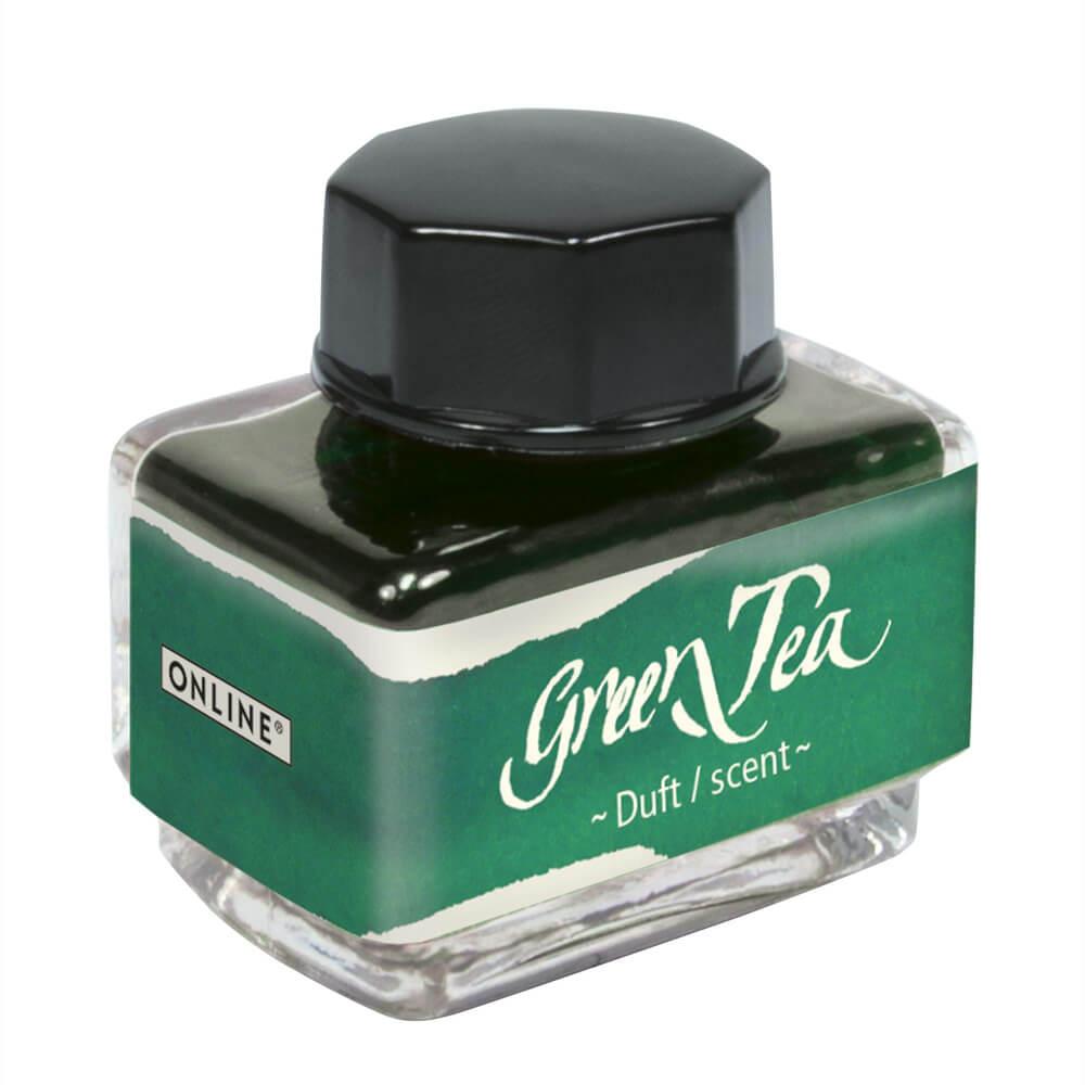 Online Green Tea, zelený lahvičkový inkoust