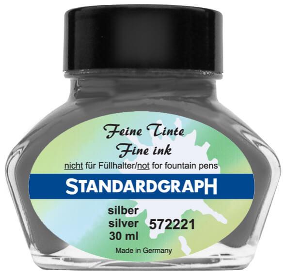 Standardgraph kaligrafický inkoust - Stříbrný