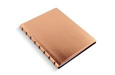 Levně Filofax Saffiano Rose Gold A5 zápisník